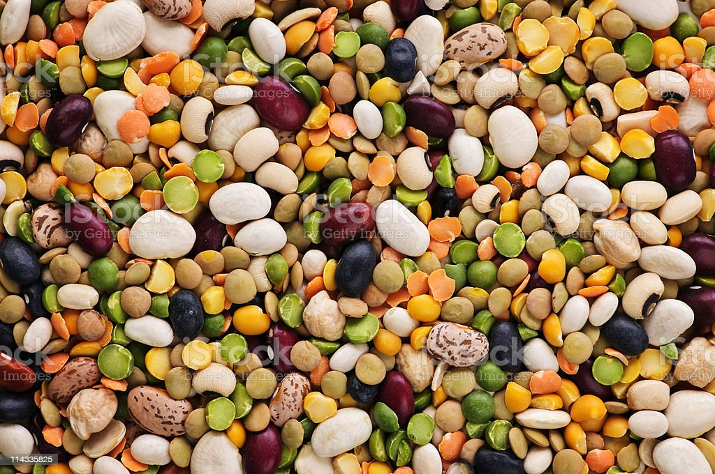 Dry beans and peas royalty-free stock photo