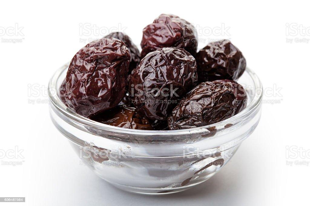 Dry black olive stock photo