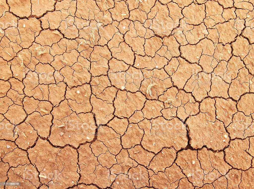 Dry brown colored cracked ground royalty-free stock photo