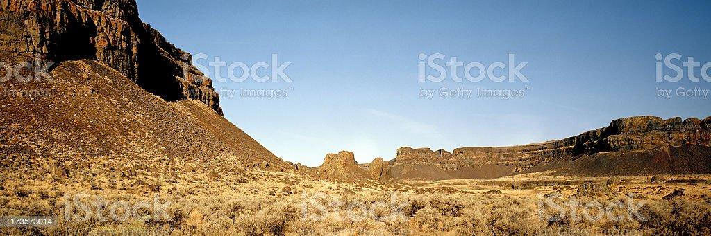 Dry Canyon in Eastern Washington, United States stock photo