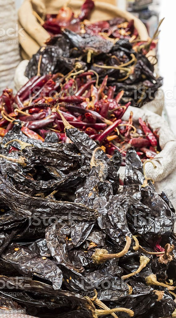 Dry Chiles by Kilos stock photo