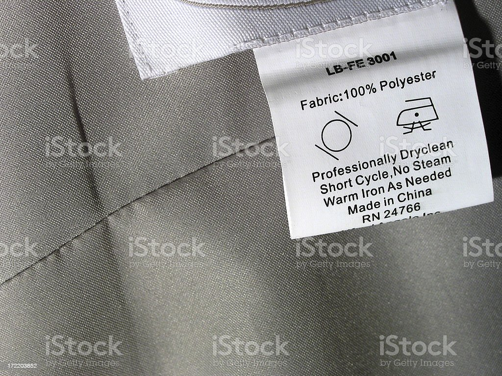 Dry Clean Only Tag stock photo