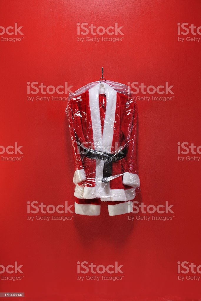 Dry Cleaned Santa Suit royalty-free stock photo