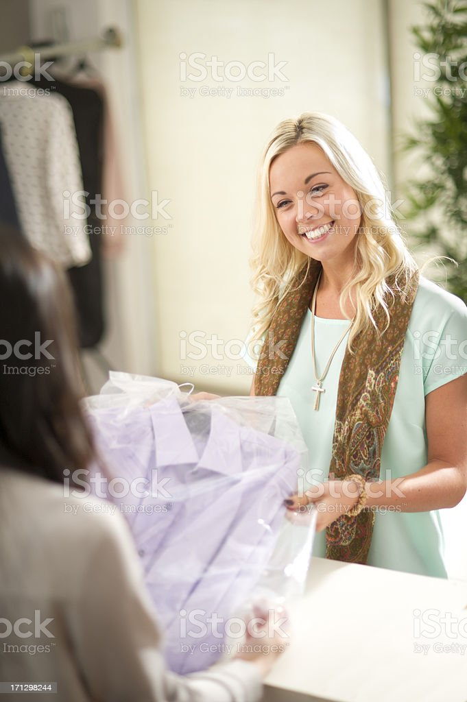 dry cleaned service stock photo