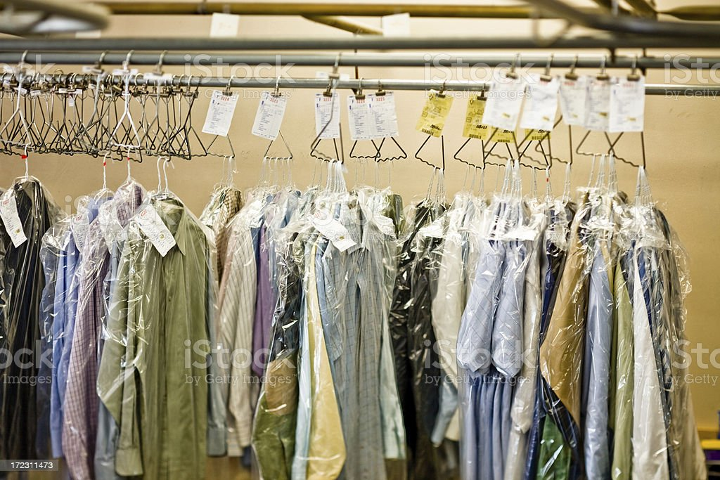 Dry Cleaned shirts stock photo