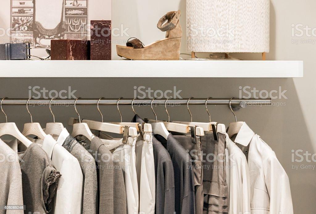 Dry cleaner stock photo