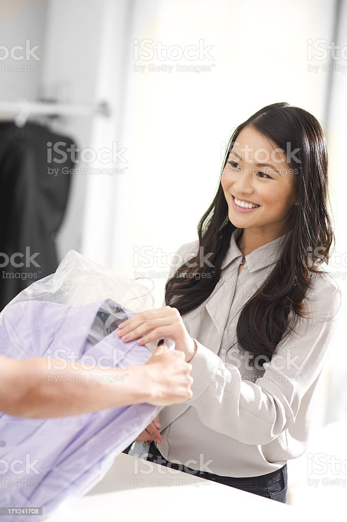 dry cleaners royalty-free stock photo