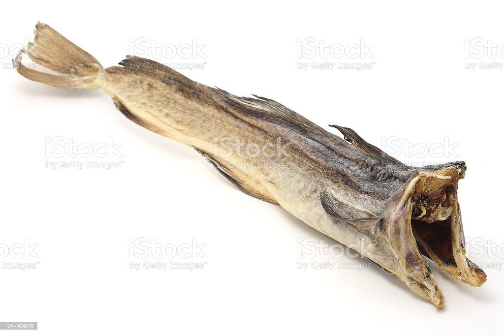 Dry cod fish stock photo