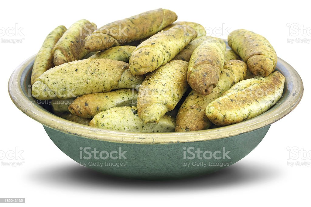 Dry cookies of nettle royalty-free stock photo