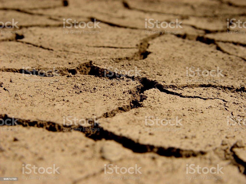 Dry Cracked Earth royalty-free stock photo