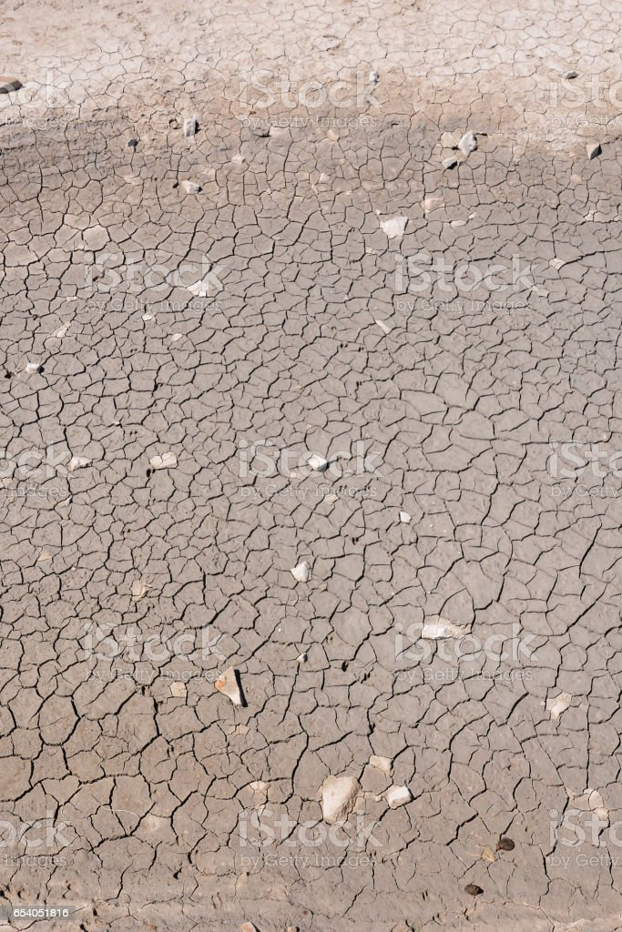 Dry cracked earth texture stock photo
