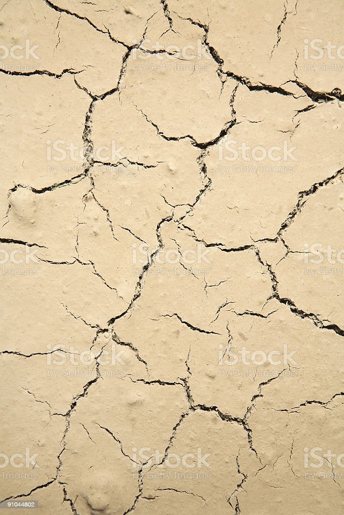 Dry Cracked Earth Texture royalty-free stock photo