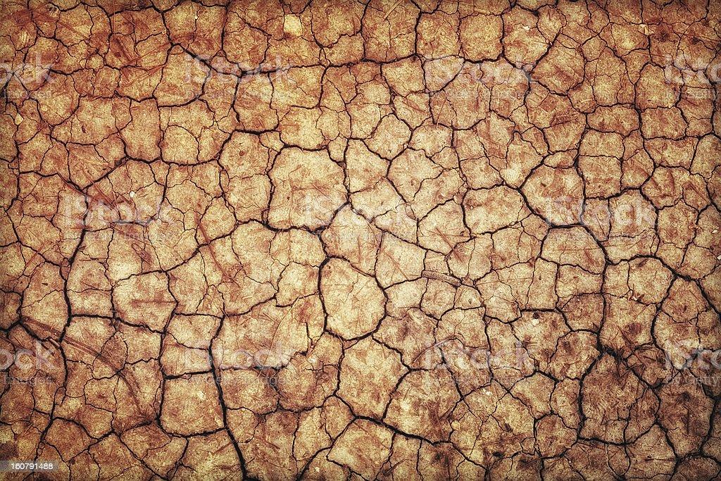 Dry Cracked Ground stock photo