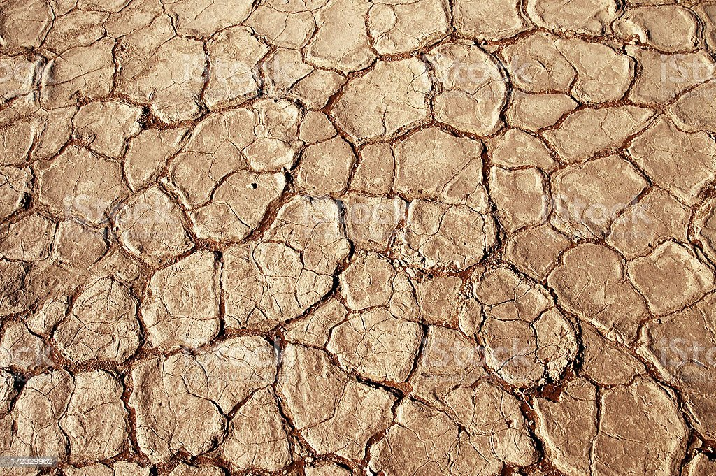 Dry Cracked Mud royalty-free stock photo