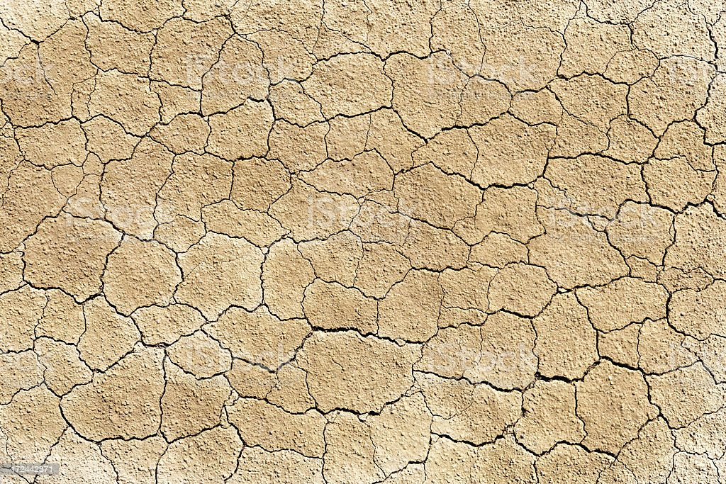 Dry cracked soil dirt royalty-free stock photo