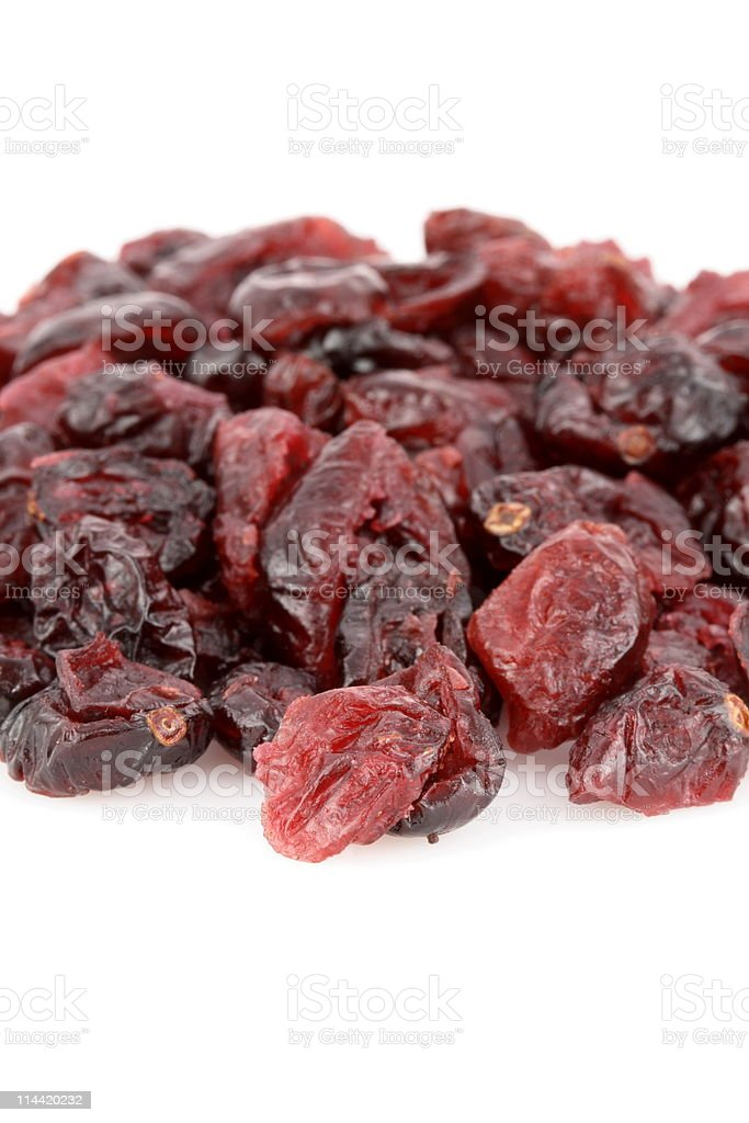 dry cranberries stock photo