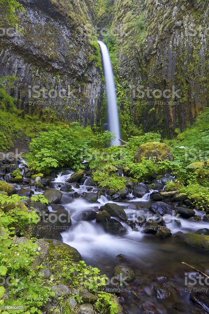 Dry Creek Falls in Oregon royalty-free stock photo