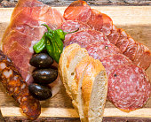 Dry cured Meat plate