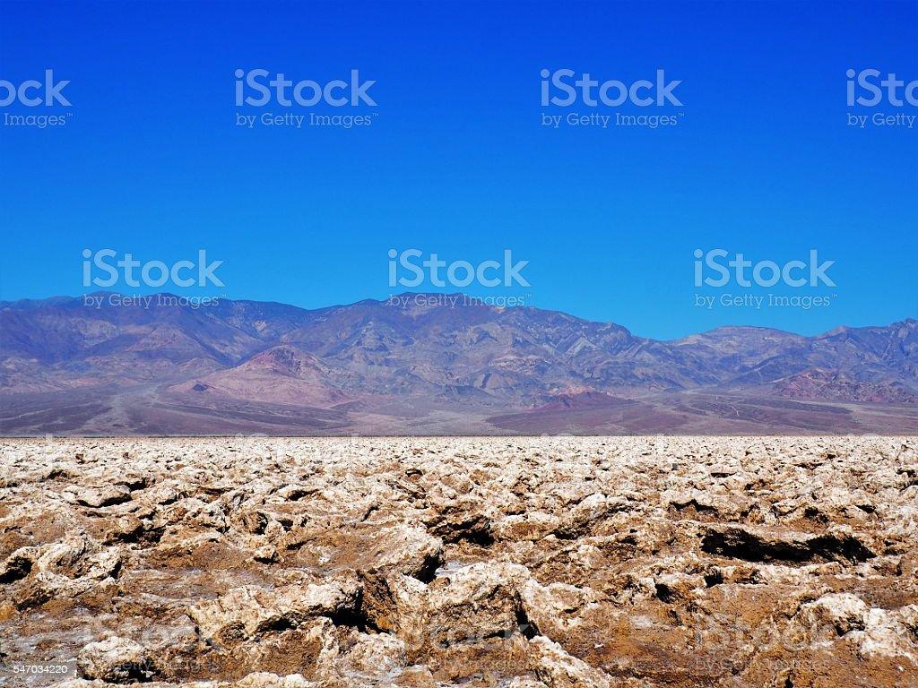 Dry Death Valley Desert Devils Golf Course stock photo