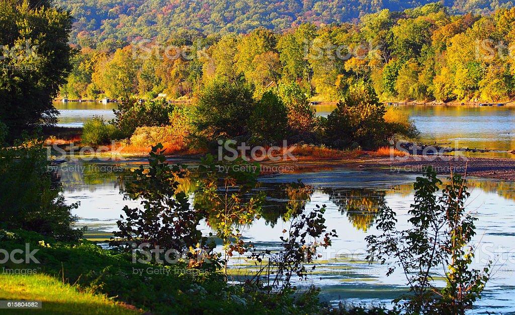 Dry Delaware River stock photo