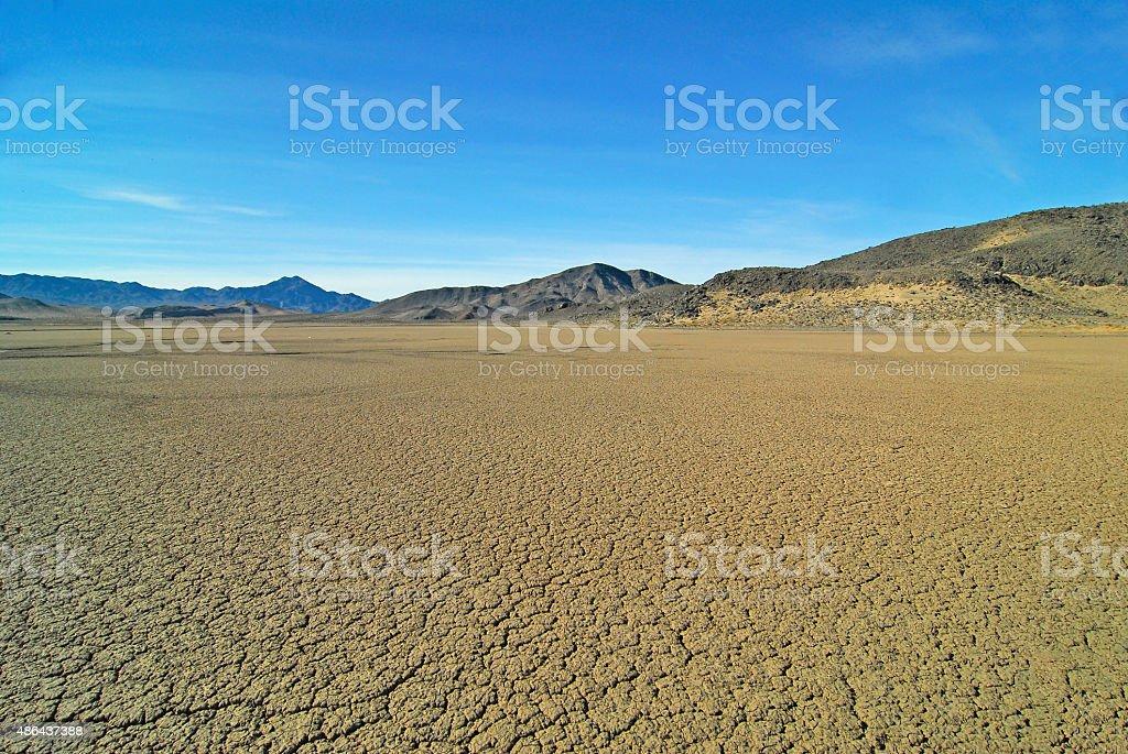 Dry Desert Lakebed stock photo