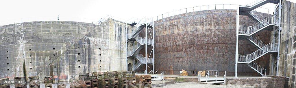 Dry Dock Door Panoramic stock photo