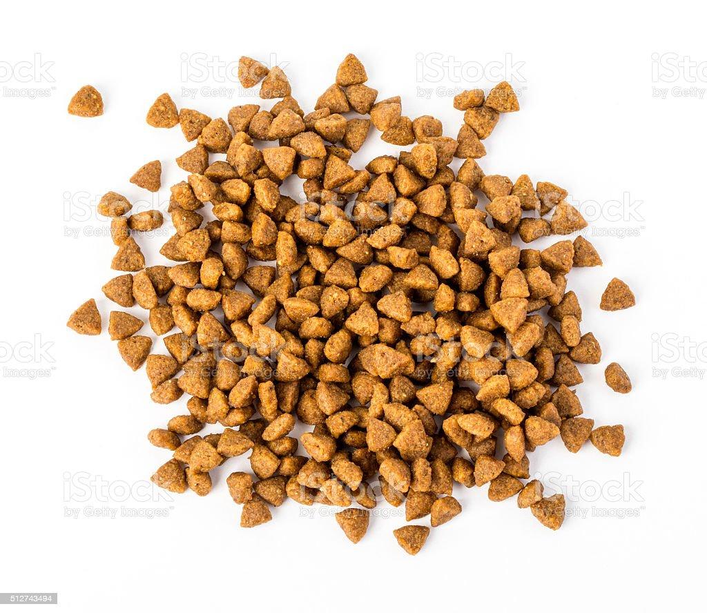 dry dog food isolated stock photo