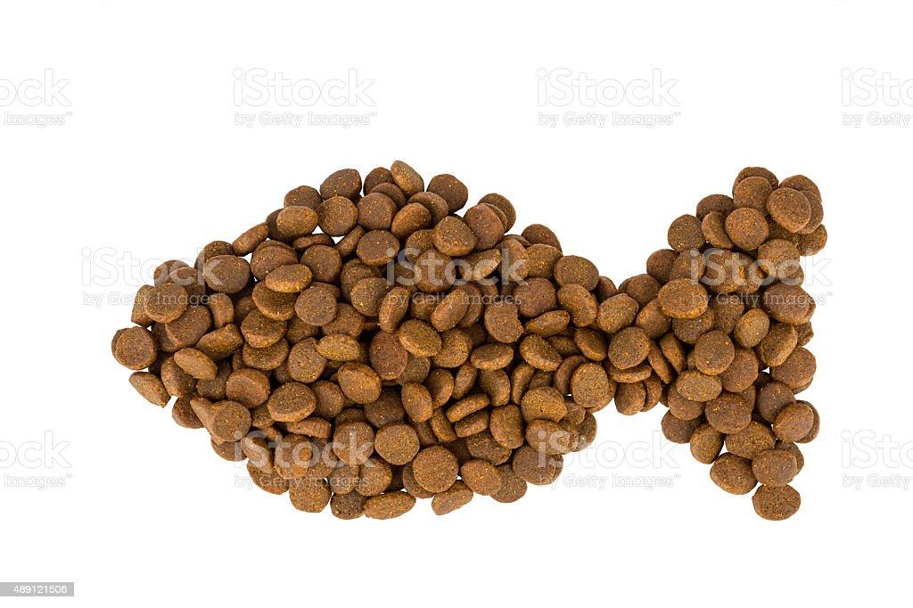 Dry dog food. stock photo