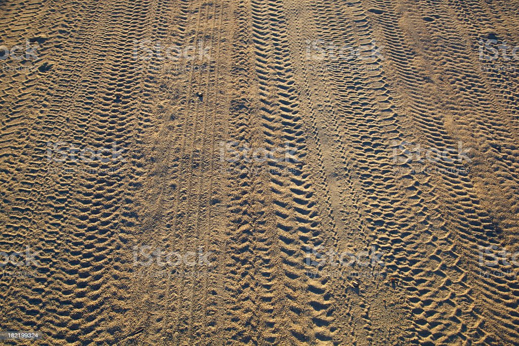 Dry Dusty Road with Tire Tracks royalty-free stock photo