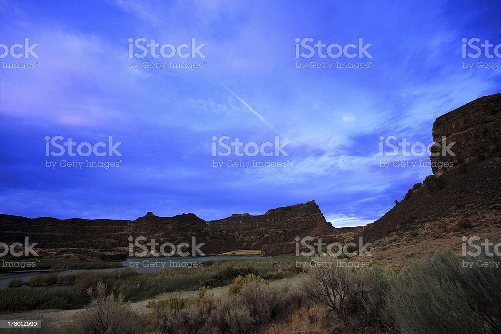 Dry Falls Washington stock photo