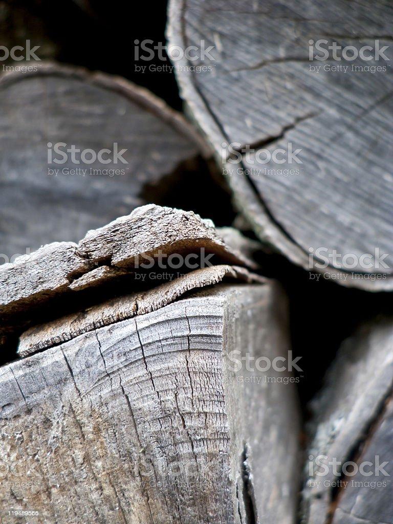 Dry firewood royalty-free stock photo