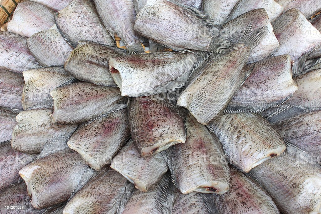 Dry fish for cook in the basket , Thailand royalty-free stock photo