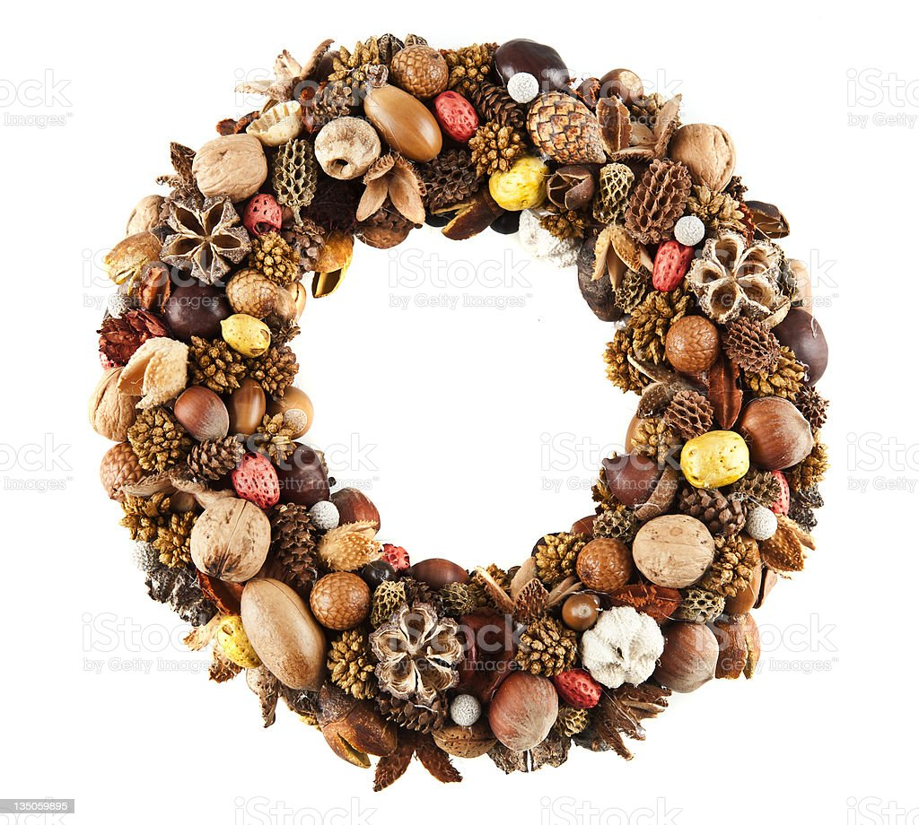 Dry fruit wreath royalty-free stock photo