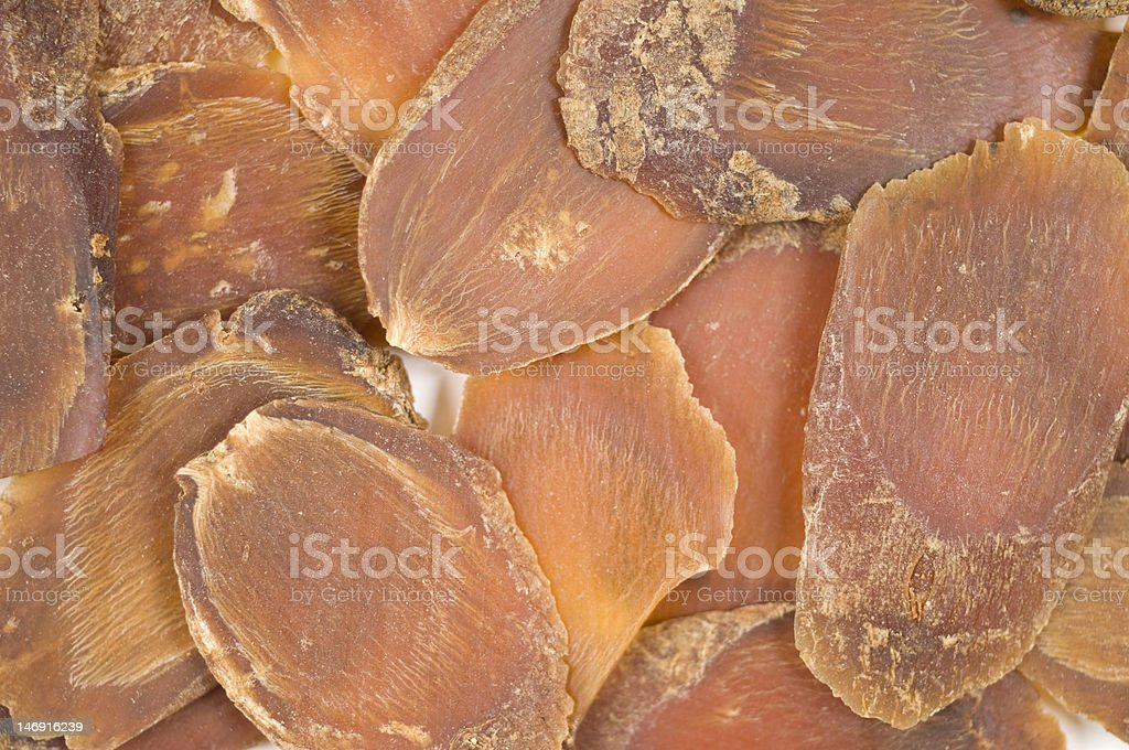 Dry Ginseng Slices stock photo