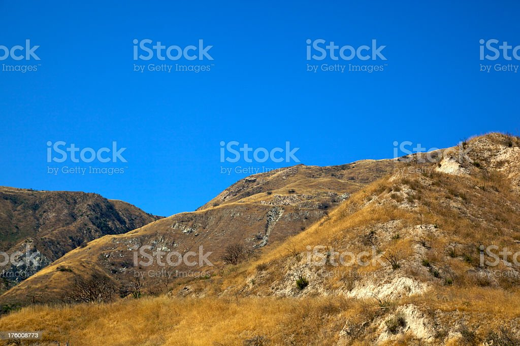 Dry Golden Hills and Blue Skies Los Angeles County XXXL royalty-free stock photo