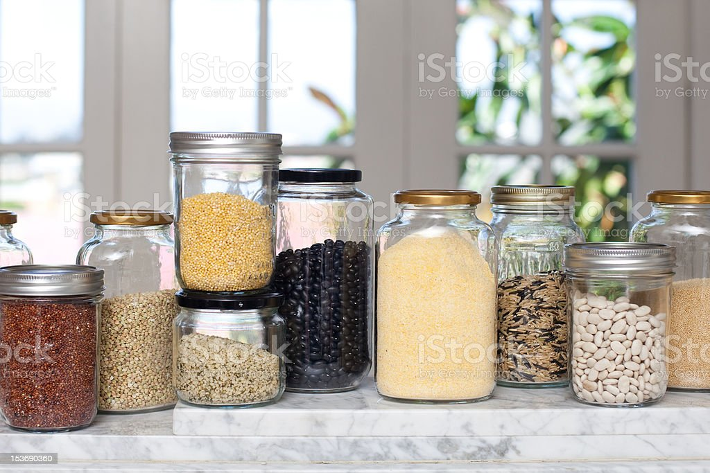 Dry Goods and Whole Grains royalty-free stock photo