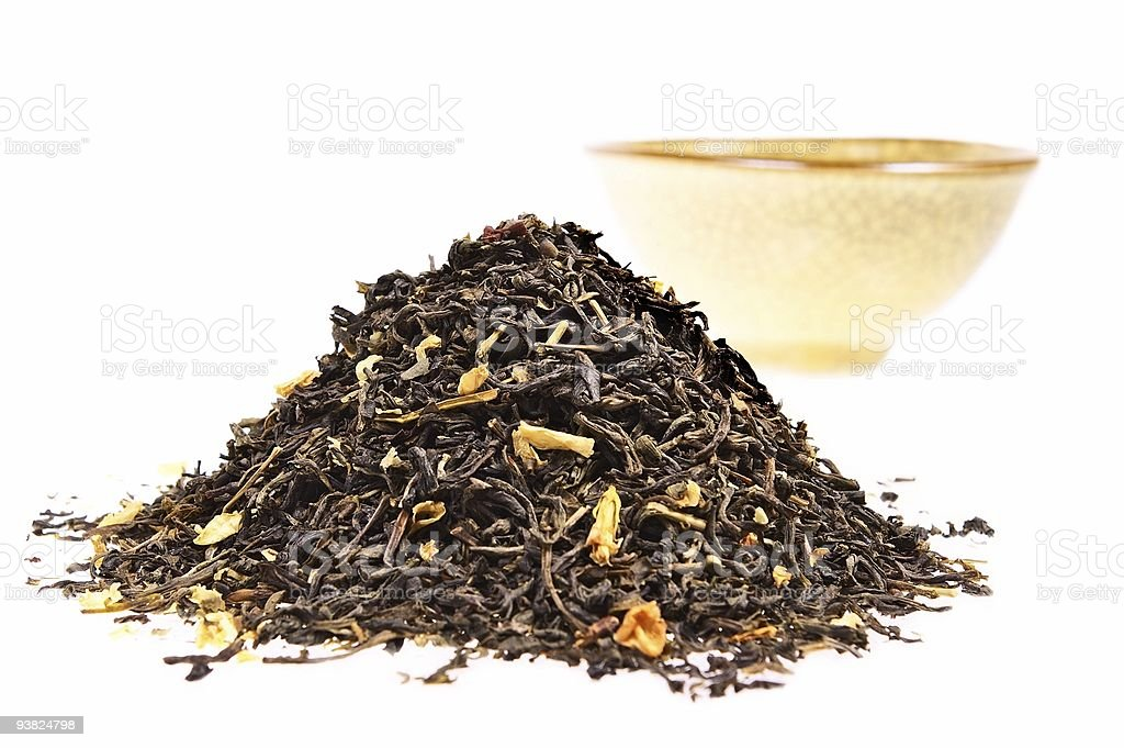 Dry green tea royalty-free stock photo