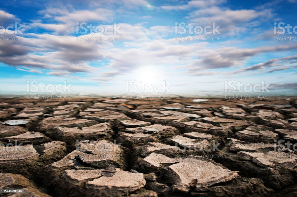 Dry ground texture background, Drought.