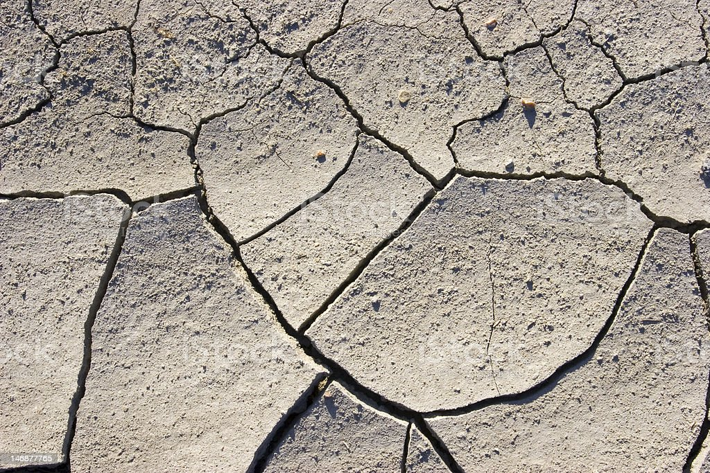 Dry ground with cracks royalty-free stock photo