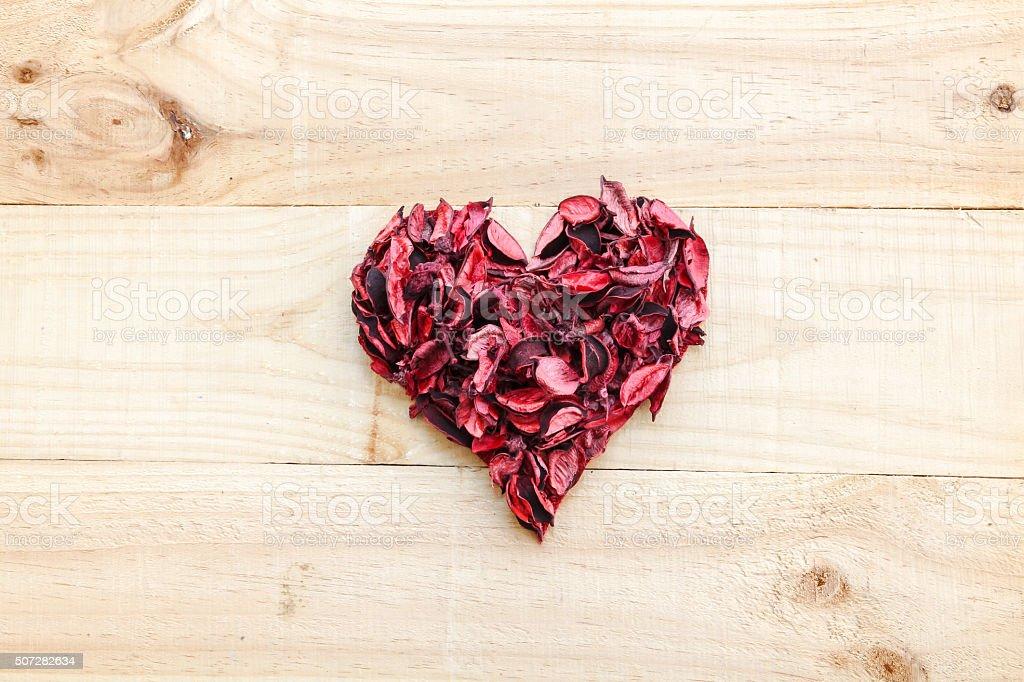 Dry heart background stock photo