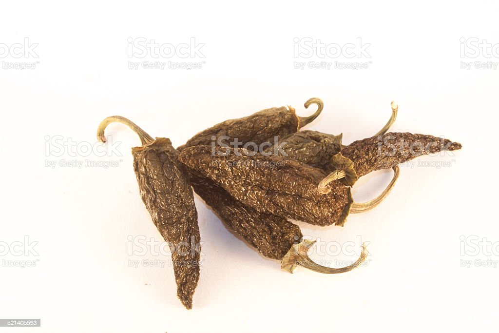 Dry jalapeno stock photo