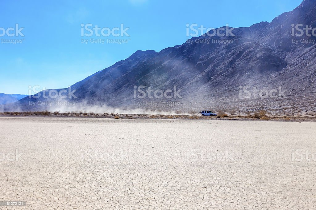 Dry Lake Bed in Death Valley Natioal park stock photo