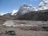 Dry Lake on the Mt. Everest Base Camp Trek, Nepal