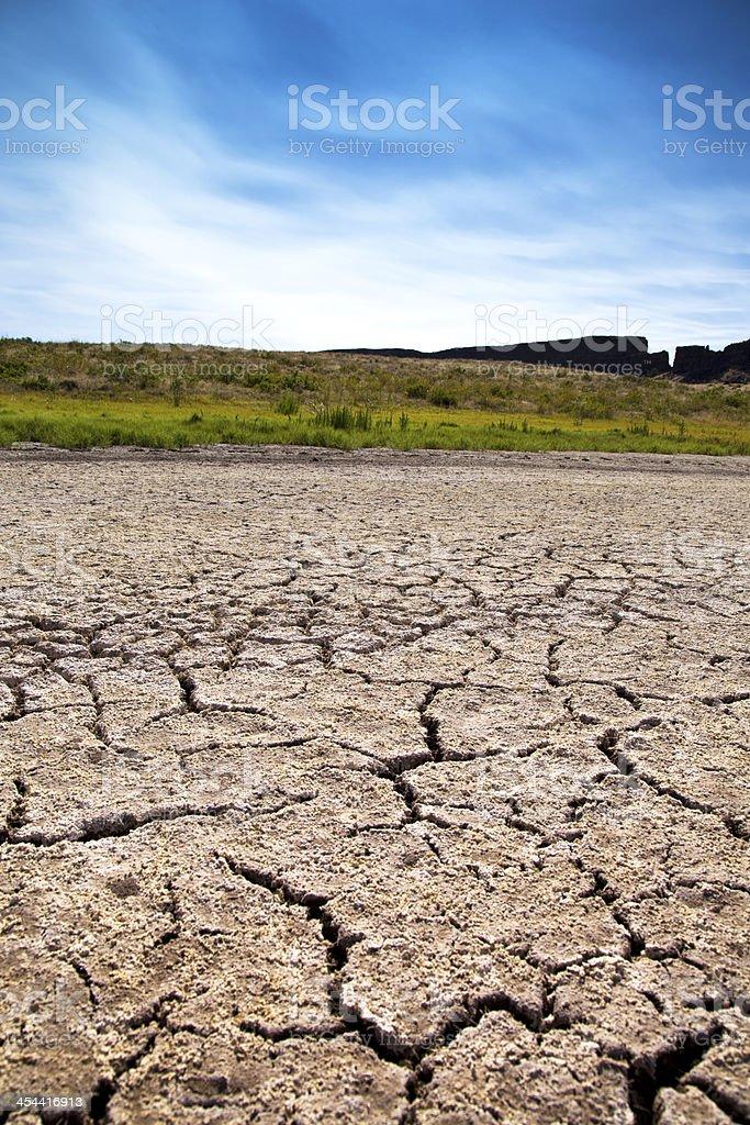 Dry lake royalty-free stock photo