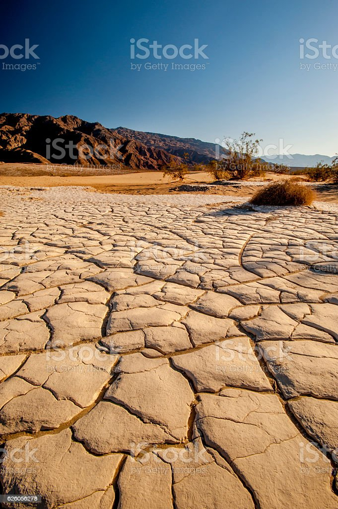 Dry Lakebed, Death Valley, California stock photo