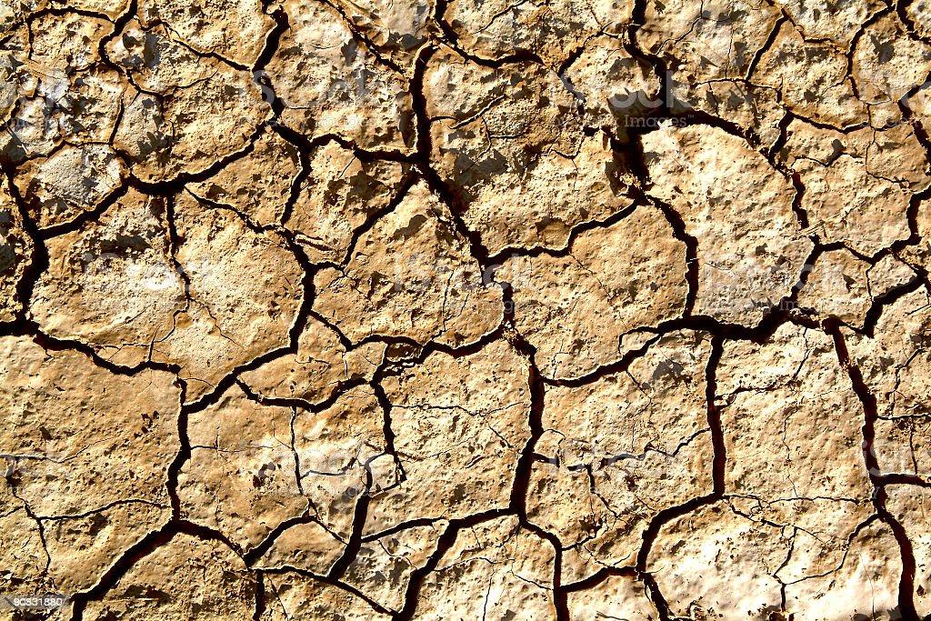 Dry land desert royalty-free stock photo