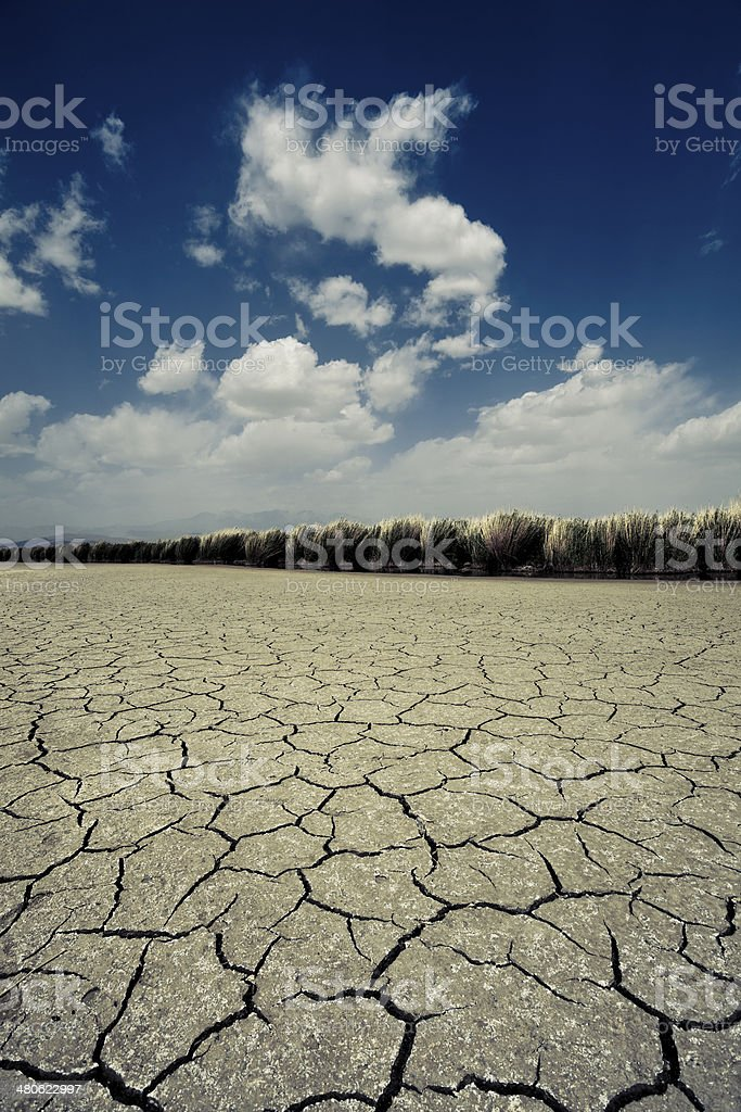 dry land in gansu stock photo
