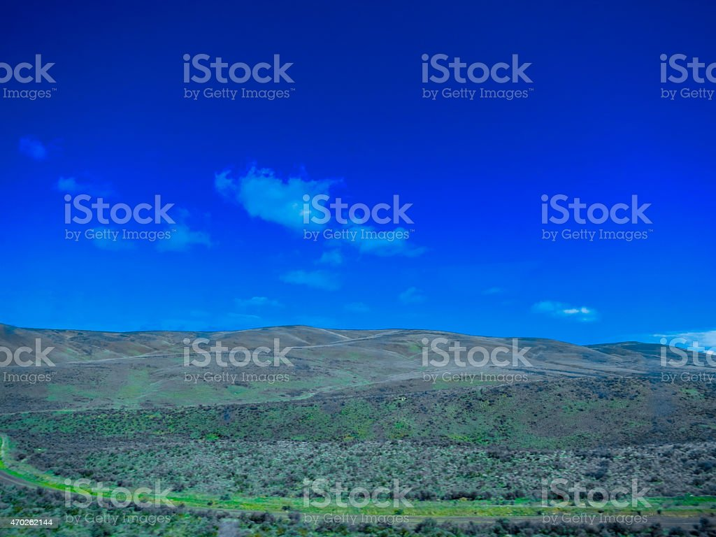 Dry land stock photo