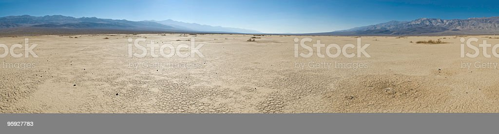 Dry landscape hot cloudless skies royalty-free stock photo
