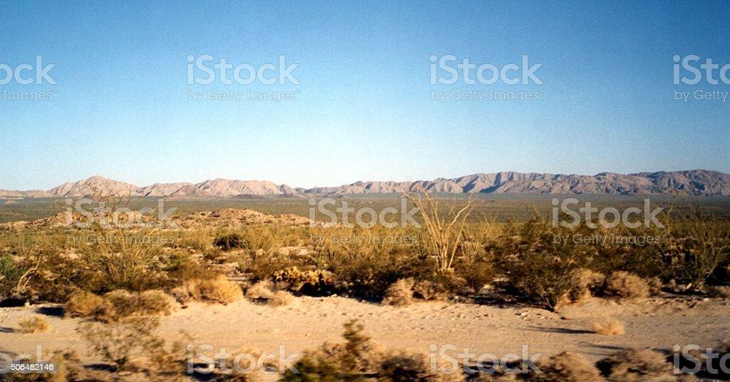 Dry Landscape in Baja California, Mexico stock photo